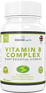 Complexe De Vitamines B Comprimés 180 Pilules Six Approvisionnement D'un Mois 100% Journalier Allocation pour tous Huit B vitamines B1,B2,B3,B5,B6,B7 Biotine,B9 acide folique et B12 Supplément pour
