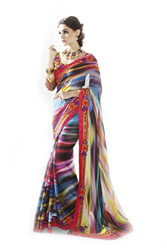 Mahotsav Women's Faux Georgette Art Silk , Net Saree ( 12027 )  available at amazon for Rs.2010