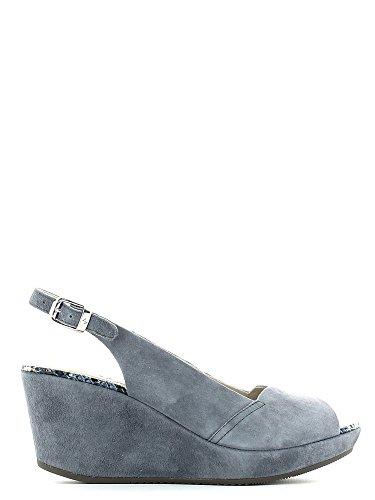 STONEFLY 104375 MARLENE jeans scarpe donna sandali zeppa pelle cinturino