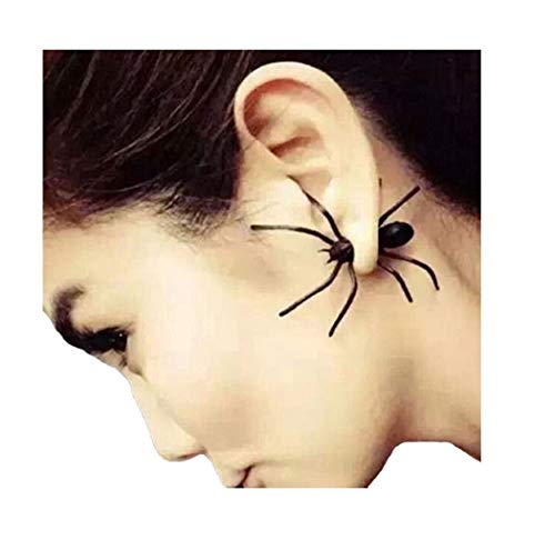 our fantasy time 2 Stück Spider Spinne Ohrring / Ohrstecker ,Tarantel Ideal Accessoire für Halloween, Tarantel Fasching, Karneval