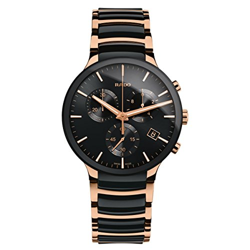 Rado Men's Centrix 40mm Rose Gold Plated Bracelet Quartz Watch R30187172