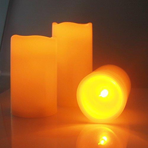 ECOLUX®Led Flammenlose Kerzen, 3 Stück, Fantastische Kerzen ohne Flamme mit Fernbedienung + Timer Funktion