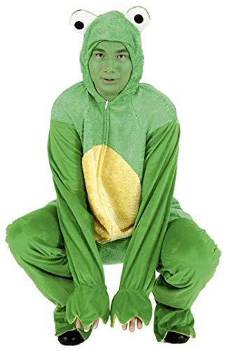 Herr Kostüm Kröte - Frosch Overall zum Herren Kostüm Kröte zu Karneval Fasching Gr.48-52