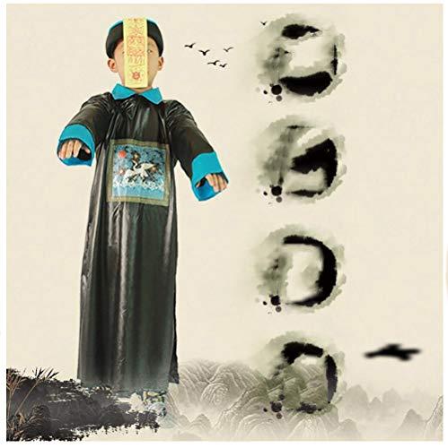 Horror Morgenmantel Sensenmann Halloween Erwachsene Kostüm Chinesischer Stil Zombie weiß und schwarz Sensenmann für Halloween Maskerade Einheitsgröße Chinesezombie (Töten Zombie Kostüm)
