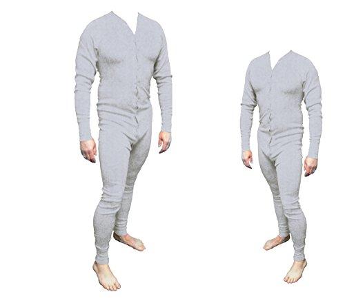 Long John Western Unterwäsche grau Einteiler Baumwolle Gr. XL Cowboy Unterhose Wild West Line Dance Kleidung (Wild Wild West Kleidung)