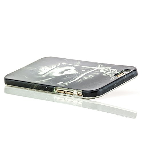 iPhone 6 / 6S Coque de Protection en Silicone Case [Saxonia] Ultra Mince Premium Soft Flexible TPU Gel Cover Housse Etui Fuck You Bitch Singe
