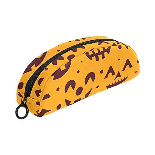 oji-Kürbis-Federmäppchen mit Reißverschluss, kleine Make-up-Tasche für Kinder, Jungen, Mädchen, Schule, Schreibwaren ()