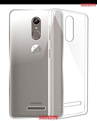 Desert Exclusive Soft Silicone TPU Jelly Crystal Clear Case Soft Back Case Cover For Gionee S6S Transparent  available at amazon for Rs.120