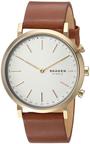 Skagen Mixte Analogique Quartz Montre connectée avec Bracelet en Cuir SKT1206