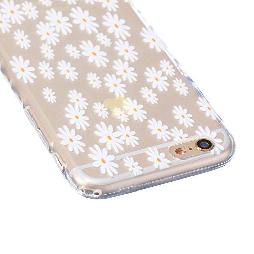 Ukayfe iPhone 6 Plus Coque, iPhone 6 Plus / 6s Plus Silicone Coque Classique Anti-choc Combo Housse Anti-poussière Etui Protecteur Ultra mince Case Cover Housse de Protection Cas en caoutchouc Souple  Marguerite Jaune