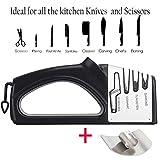Afilador de Cuchillos,Knife Sharpener,Afilador de Cuchillos Manual 4 en 1,Afilador de Tijeras,Flador Rápido, Seguro