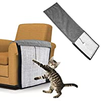 Andiker Cat Scratching Pad, Durable & Washable Replacement for Cat Tree Natural Sisal Mat with Velcro for Wrapping Around Furniture Sofa & Couch & Chair & Desk Legs with A Ball (long)