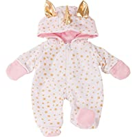 Gotz 3402912 Baby Doll Onesie / Overall Unicorn - Size S - Dolls Clothing - Suitable For Baby Dolls Size S (30 - 33 cm)