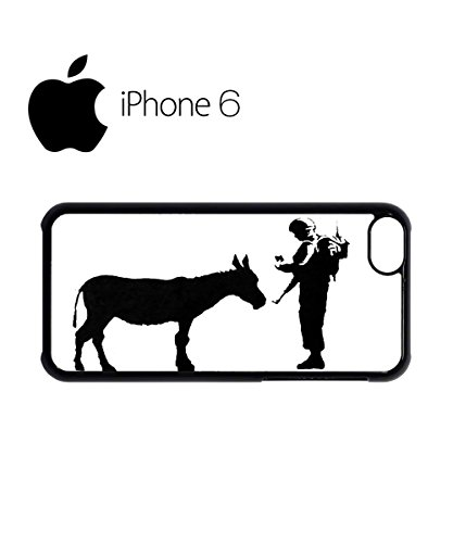 Banksy Soldier Donkey Asking ID Swag Mobile Phone Case Back Cover Hülle Weiß Schwarz for iPhone 6 White Weiß