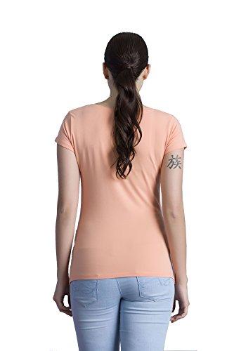 Verkauft von MamiMode Hallo Lieblingsmensch - Witzige Süße Umstandsmode T-Shirt mit Motiv Schwangerschaft, Kurzarm Lachsfarbe