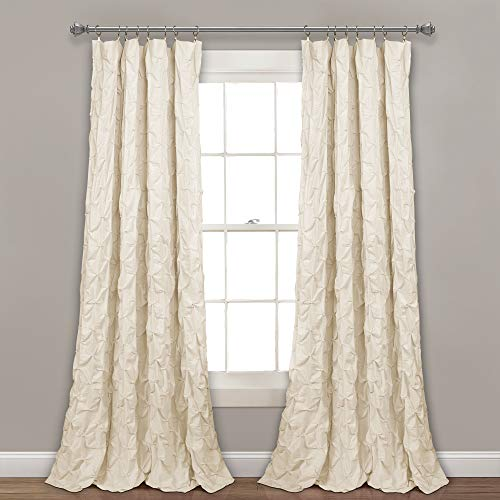 Lush Decor Ravello Pintuck Window Curtain Panel, 84