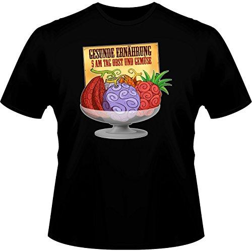 Parodie auf Gum-Gum-Frucht von One Piece - Manga Herren T-shirt (719) Schwarz