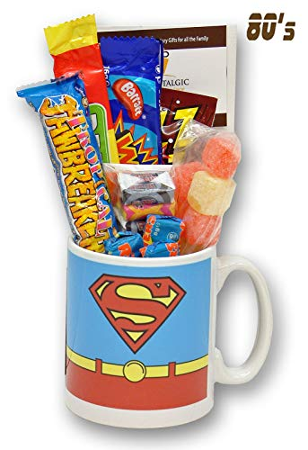 Superman Costume Mug with a Superhuman Portion of 80's Sweets
