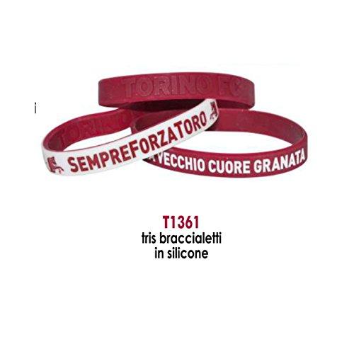 giemme Werbematerial Paar Armbänder Emblem Torino Bull Granat Official Merchandise Executive Geschenk