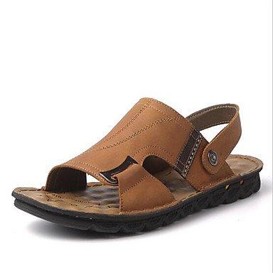 Uomini sandali estivi Casual scamosciato tacco piatto marrone nero kaki Khaki