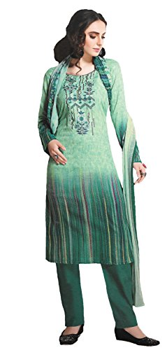 Cambric Cotton Pakistani Karachi Style Designer Embroidered Unstitched Dress Material with nazneen...