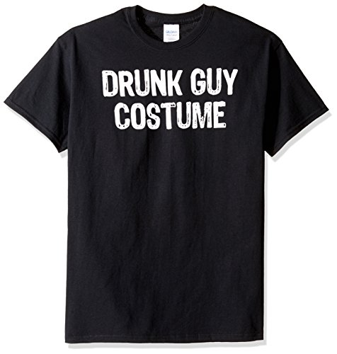 en Drunk Guy Kostüm Graphic T-Shirt - Schwarz - Klein ()