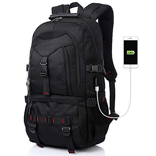 Laptop Rucksack für Damen und Herren, Reiserucksack mit USB für 17,3 Zoll Notebook, Diebstahlschutzrucksack für Damen, Schulrucksack Multifunktionsrucksack Business Look für Männer und Jungen Daypack
