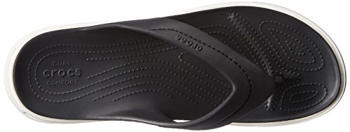 Crocs Citilane Flip Ciabatte, Unisex adulto Nero (Black/White)