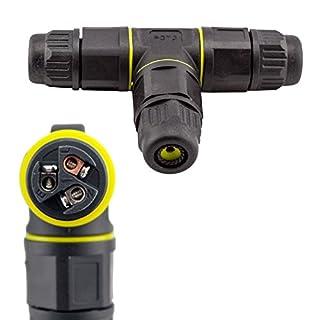 Dosenmuffe / Kabelverbinder / Kabelverlängerung T-Stück / Y-Verteiler IP68 3-polig für 230V wasserdicht