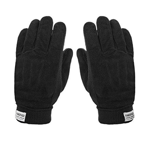 Guantes Deporte Invierno Otoño guantes pielParaviento/frío-Manoplas