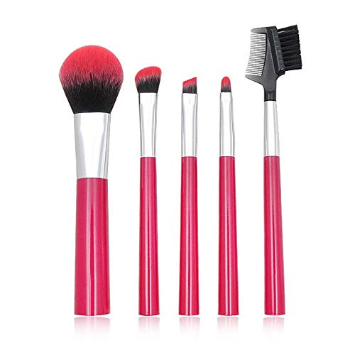 Set di pennelli trucco Setole professionali super morbide di lusso per Kabuki Face Powder Foundation Blush Eyeshadow Blending Make Up Brushes Kit (6 pezzi)