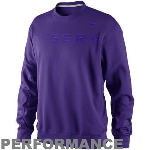 LSU Tigers KO Performance Purple Fleece Crew Sweatshirt (Small) by NCAANike