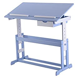 COSTWAY Kinderschreibtisch Kindermöbel Kinderzimmer Kindertisch Schreibtisch  Schnülerschreibtisch Computertisch Bürotisch Neigungsverstellbar ...