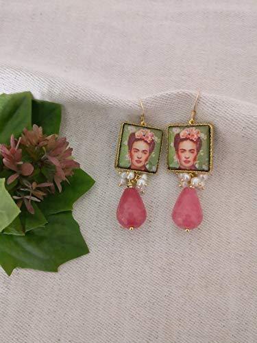 repliche colori delicati guarda bene le scarpe in vendita SPEDIZIONE GRATUITA Orecchini a goccia con mattonelle Frida ...