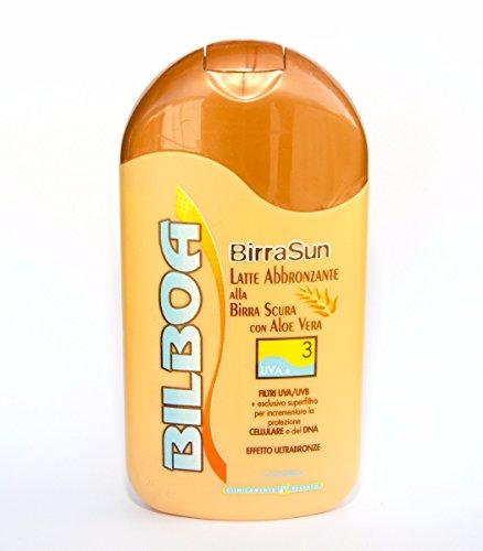Bilboa BirraSun Latte abbronzante Birra Scura con Aloe Vera SPF3 Cadey 200ml