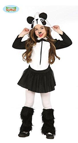 Guirca Mädchen Pandakostüm Panda Kostüm Kleid Kinderkostüm schwarz weiß Gr. 98-146, Größe:110/116 (Panda Kostüm Kinder)