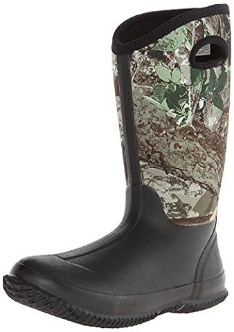 Roper Women's Barnyard Camo Lady Rain Shoe, Black, 5 M US