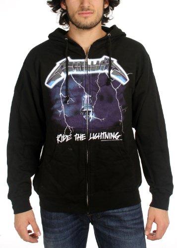Metallica Ride The Lightning con cappuccio da uomo Zip Black Small