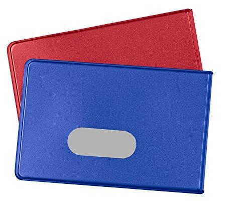 Tür Feste Folien (RFID NFC Schutzhülle (2 Stück) für Kreditkarten von BE-HOLD sind die idealen blocker Schutzhüllen für ihre Geldbörse und schützt so ihre EC Karten, Personalausweis vor unerlaubten auslesen (rot/blau))