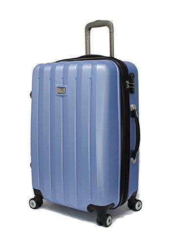 QTC DENVER 2 Hartschalen Reisekoffer L / 67cm / Handgepäck Reisetasche Reise Koffer (Blau)