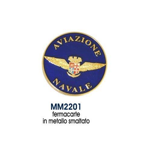 Giemme articoli promozionali - Fermacarte Tondo Stemma Aviazione Navale Marina Militare Prodotto Ufficiale