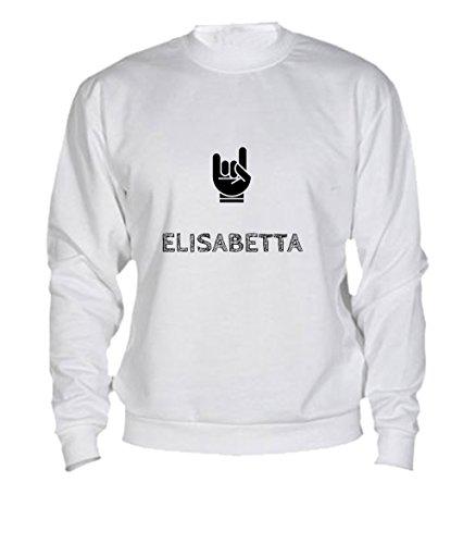 Felpa Elisabetta - Print Your Name White