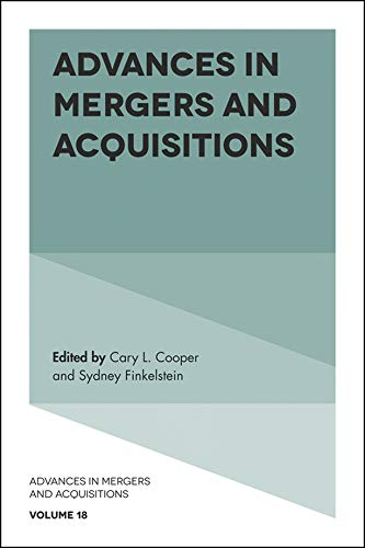 Advances in Mergers and Acquisitions (English Edition)
