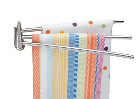 Besser Housewares 2490Wandmontage 3-Arm Edelstahl Handtuch Bar