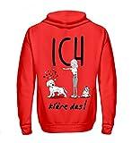 Shirtee Cocoloros Design; ICH kläre Das! - Zip-Hoodie