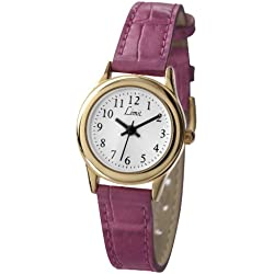 Limit Women's Quartz Watch with White Dial Analogue Display and Pink PU Strap 6983.35