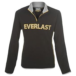 Everlast ¼ Zip, Felpa in pile da uomo, Pullover felpa maglia, colore: nero