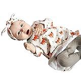 JERFER Neugeborene Kinder Baby Mädchen Langarm Karikatur Fuchs Kleid Outfits Kleidung 6-24M (18M, Weiß)