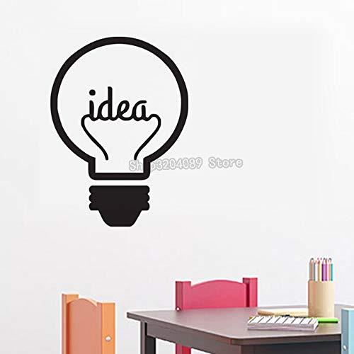 Idee Symbol Motivation Wandaufkleber Steuern Dekor Wohnzimmer Schlafzimmer Für Kinder Kreative Glühbirne Vinyl Kunst Aufkleber 56 * 78 CM