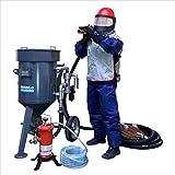 Sandstrahlgerät'SPEZIAL': 100 Liter Strahlkessel mit CLEMCO Ausrüstung und Arbeitsschutz